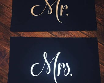 Mr. & Mrs. Pillowcase set standard size