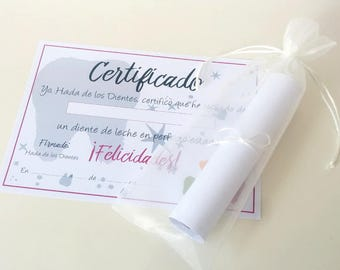 Tooth Fairy Certificate - Spanish
