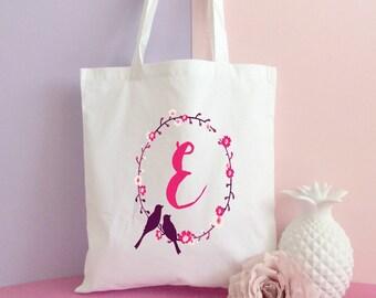 Initial Tote bag- Cotton Tote bag- Quote bag- Unique tote bag- Shopping tote bag- printed tote bag. Inspirational tote bag- Personalized bag