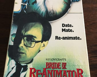 Bride Of The Re-Animator VHS Horror Cult Classic