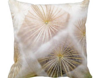 "Throw Pillow ""White Dandelion"""
