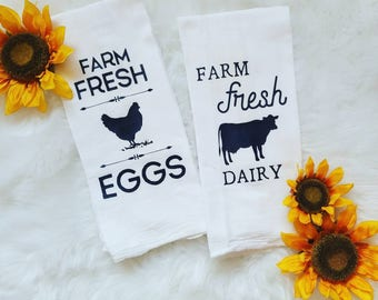 Farmhouse Kitchen Towels Set (2)