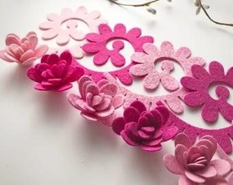 Delightful pink mum flower pack