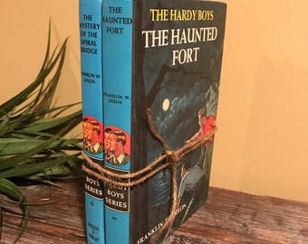 Hardy Boys, Mystery Books, Childrens Books, The Mystery Of The Spiral Bridge, The Haunted Fort, Old Book Stack, Collectible, Classic Books