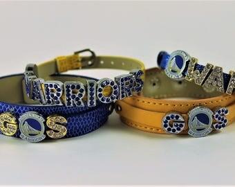 Golden State Warriors 8mm Slide Charm Bracelet
