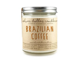 Brazilian Coffee 8oz Scented Candle | Coffee candle, Java, Coffee scent, strong scented candles, Birthday Gift idea, Coffee, Coffee Lover