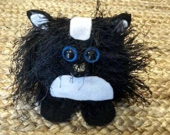 Skunk decorations, Skunk Child or Kids Toy, Woodland Animals, Skunk Decorations, Cute Felt Skunk,  Handmade Felt Statue, Funny Figurine