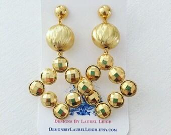 GOLD Gemstone Earrings | lightweight, statement earrings, posts, post earrings, Designs by Laurel Leigh