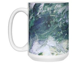 Large art Coffee Mug Colorful fun art Pretty mug Abstract Mug