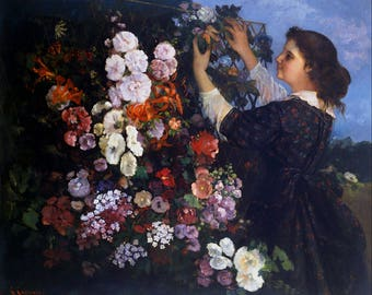 Trellis by Gustave Courbet  - Poster A3 or A4 Matt, Glossy or Art Canvas Paper
