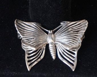 """Great Vintage, silver 925"""", brooch pin Butterfly Art Nouveau"""