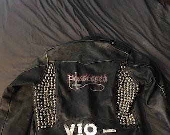 Thrash metal leather jacket