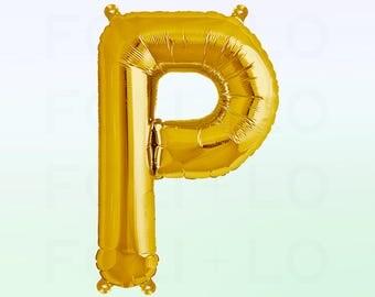 Metallic Gold Letter P Balloon | Gold P Balloon | Gold Letter P Balloon | Jumbo Letter P Balloon