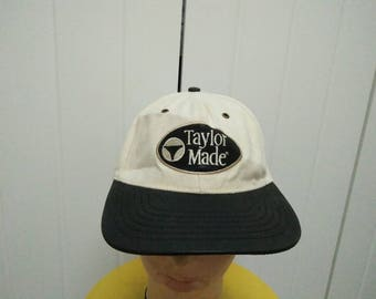 Rare Vintage TAYLOR MADE Find Your Game Embroidered Spell Out Cap Hat Free size fit all Made in USA