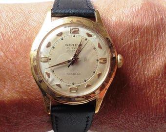 1950s Vintage Gents Swiss GP Geneva 25J Automatic Felsa 1560 Watch Serviced, for Sale