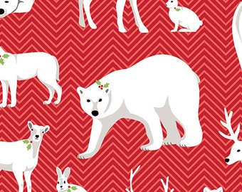 Contempo - Nordic Holiday - Animals - 1881-10 - Fabric by the Yard