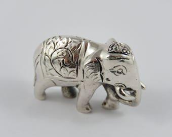 Sterling Silver Elephant Figurine