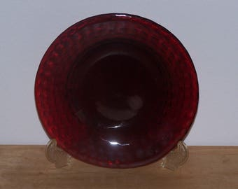 Ruby Red Luncheon Plate