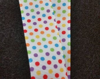 Rainbow Polka Dot Lanyard - Rainbow Cruise Lanyard - Rainbow Dot Lanyard - Nurse Lanyard - Teacher Lanyard - Cruise Lanyard - Casino Lanyard