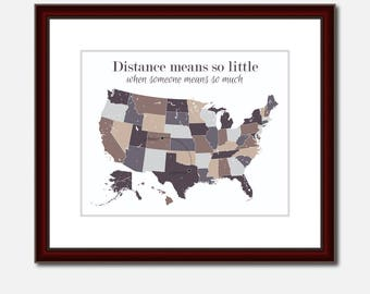 Friends Apartment Unique Long Distance Gift 2 Map Art Two Map Print Personalized State Country Distance Present Birthday Gifts Christmas