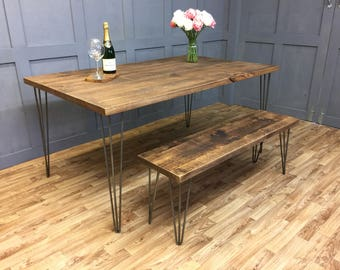 Retro Industrial Hairpin Table