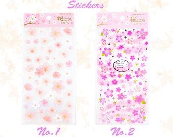 Cherry Blossoms Stickers, Creative, Pink, Stationery, DIY, Handmake