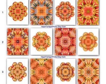 Orange Wall Art Orange Yellow Art Print Floral Orange Wall Decor Living  Room Bathroom Bedroom Dining