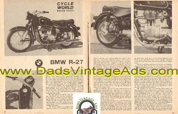 1964 BMW R-27 Vertical Single Engine 3-Pg Road Test Article #d64ea21