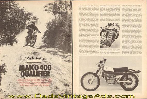 1974 Maico 400 Qualifier Road Test 6-Page Article #e74ha05