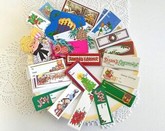 vintage gift tags christmas gift tags present tags