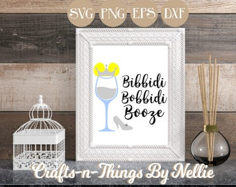 Cinderella Disney Wine Glass SVG