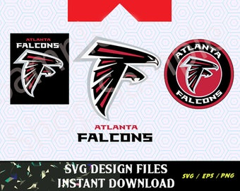 Atlanta Falcons Logo SVG Vinyl Cutting Decal, for Mugs, T Shirts, Cars  SVG files for Silhouette Cameo Cut Files,  SVG Car Decal