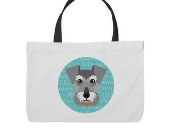 Adorable Schnauzer Inspired Tote Bag!