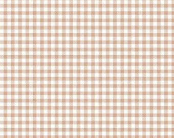 Bake Sale 2 NUTMEG Gingham Yardage by Lori Holt of Bee in My Bonnet for Riley Blake Designs #C6988 100% Cotton
