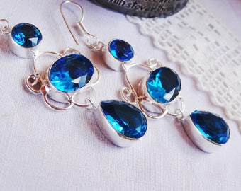 Earrings Topaz - Sterling Silver 925 - gift idea