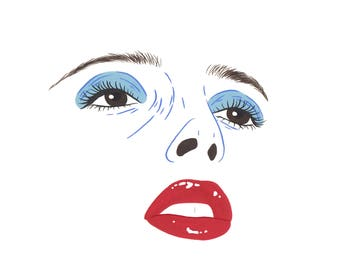 BLUE VELVET PRINT. David Lynch, Isabella Rossellini, film art, painting, giclee print.