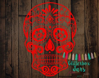 Sugar Skull Decal | Day of the Day Decal | Texas Decal| Skull Decal | Car Decal