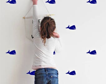 Whale wall stickers - Ocean Theme - Wall stickers - Set of 20