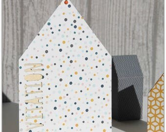 Cottage kraft invitation card