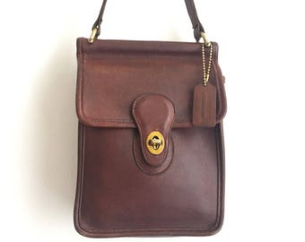 Coach Murphy Bag with Tags / Vintage Brown Leather Coach / Chocolate Brown Vintage Coach Bag / Vintage Coach Murphy 9930