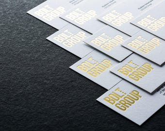 Custom letterpress business cards - 1 ink + 1 foil