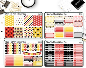 1301~~Disney Mickey Mouse Inspired Weekly Kit Planner Stickers.