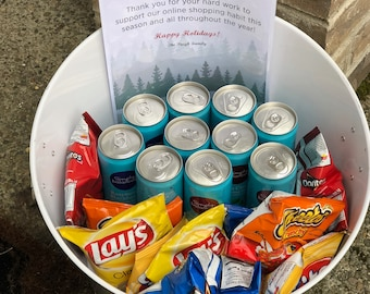 Delivery Driver Holiday Snack Note