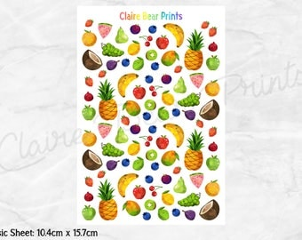 FRUIT & VEGETABLE Planner Stickers - Classic sheets (2 options)
