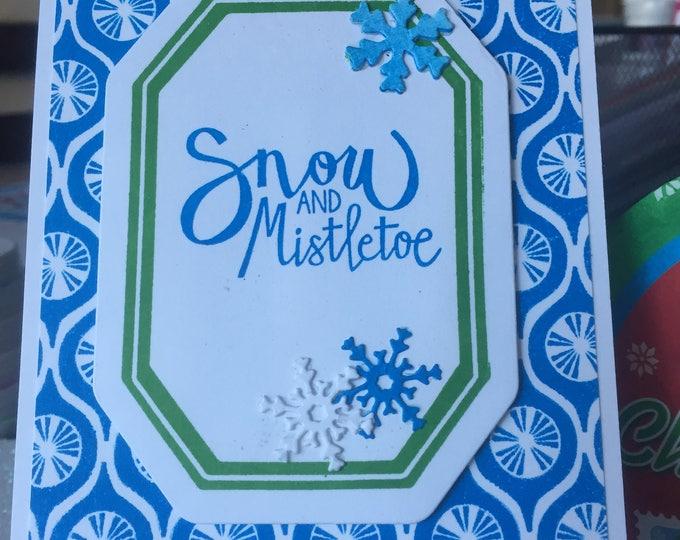 Handmade Card, Stamped Card, Christmas Card, Holiday Card, Layered Card, Christmas Card Set, Holiday Card, Holiday Card Set