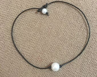 Single Beaded Pearl Necklace