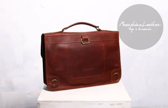Leather satchel leather backpack leather messenger bag
