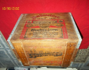 budweiser- anheuser busch wooden  box