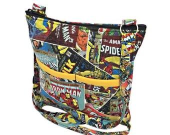 20% OFF SALE Marvel Crossbody Bag // Sling Bag // Crossbody Purse // Shoulder Bag // Hipster // Avengers