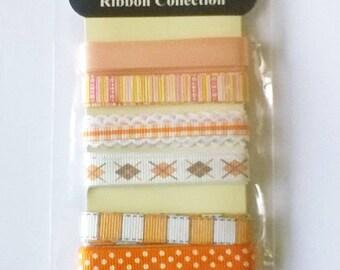 Set of 6 ribbons, craft supplies